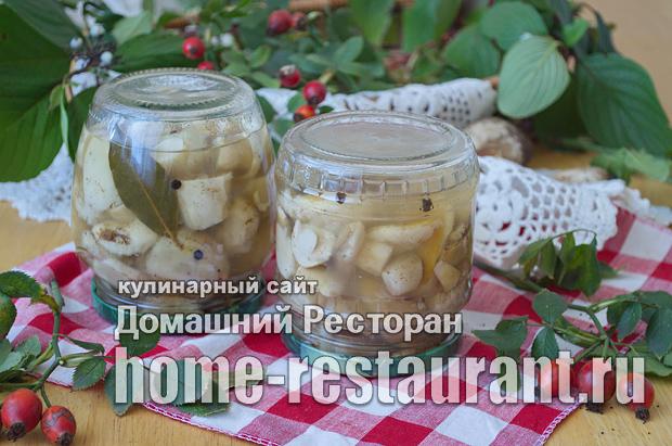 Белые грибы на зиму в банках фото_11