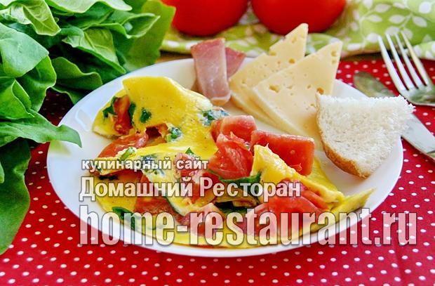омлет со шпинатом фото 10