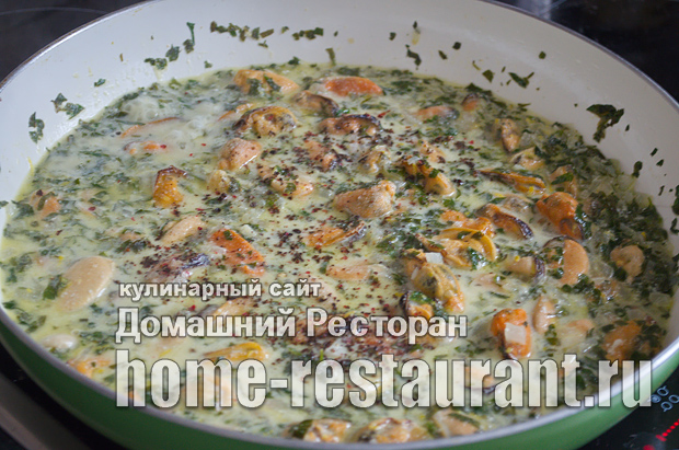 Мидии в сливочно-чесночном соусе фото_09