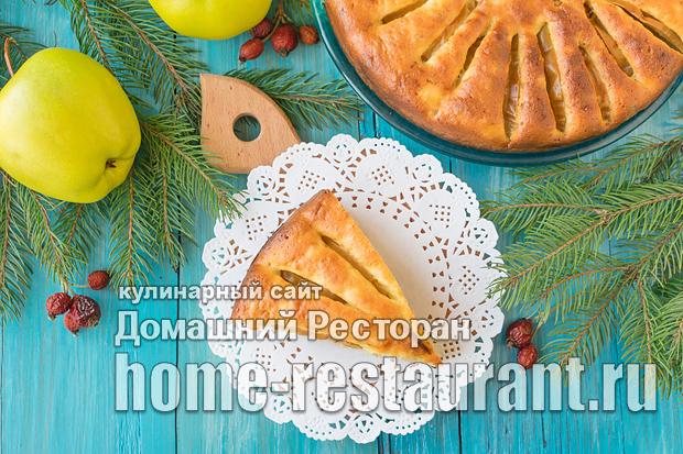 Шарлотка с творогом и яблоками фото, фото рецепт Шарлотки с творогом и яблоками