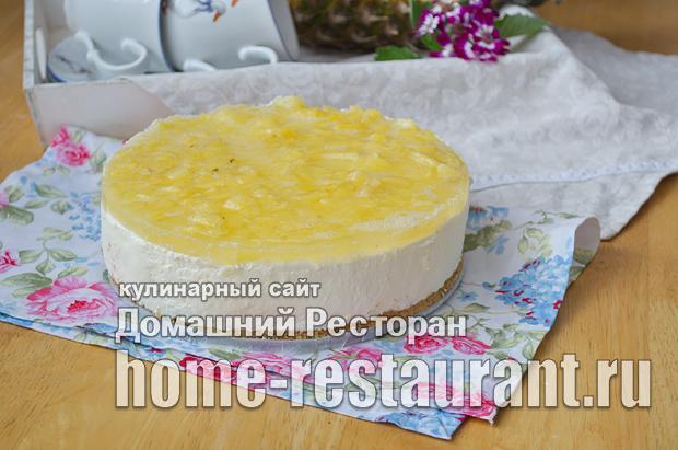 Чизкейк без выпечки с творогом и печеньем фото, как приготовить