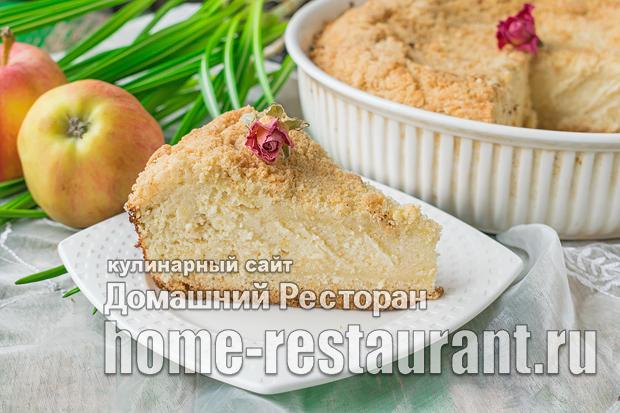 Насыпной пирог с творогом и яблоками фото, фото рецепт насыпного пирога с творогом и яблоками