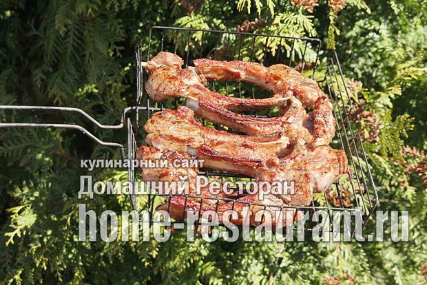 Стейк из говядины на мангале фото_7
