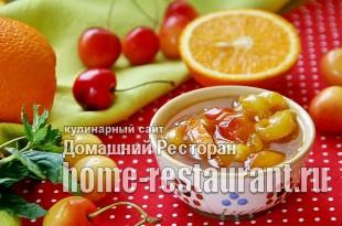 Варенье из белой черешни с апельсином и имбирем фото_6