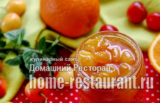 Варенье из белой черешни с апельсином и имбирем фото_7