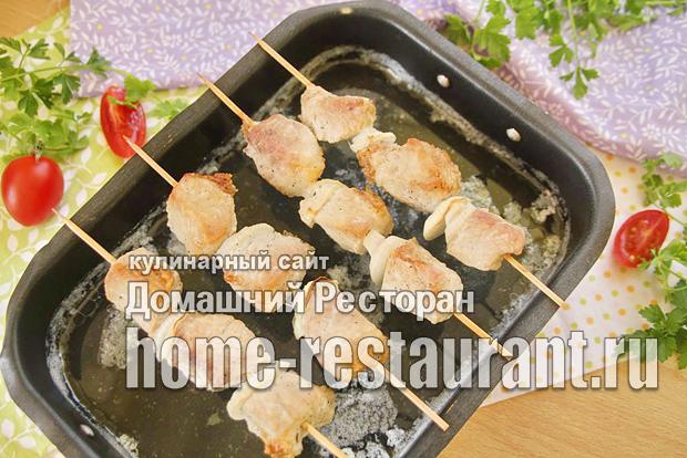 Шашлык в духовке из свинины на шпажках фото_10