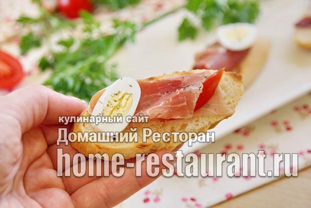 Брускетта с хамоном и помидорами фото_9