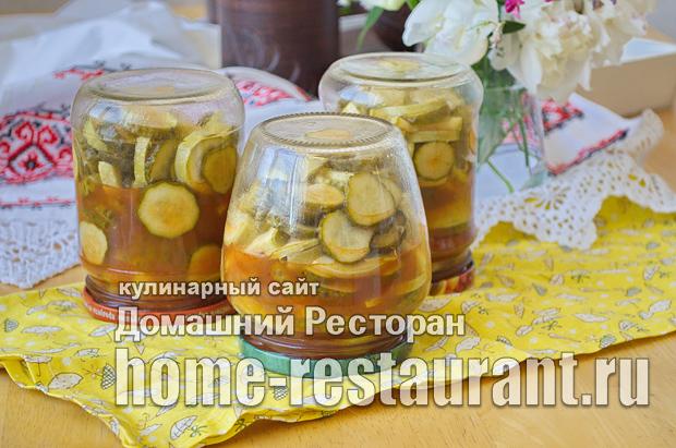 Салат из кабачков и огурцов с кетчупом чилли фото_7