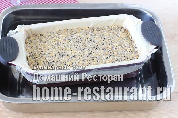 Маковый пирог с яблоками фото_10