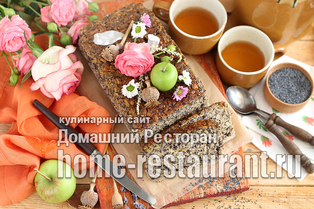 Маковый пирог с яблоками фото_12