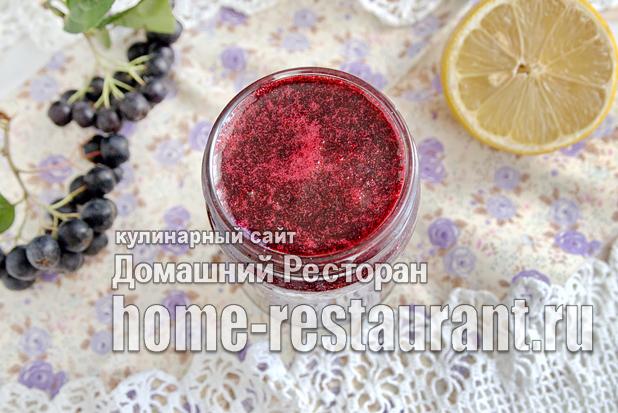 «Сырое» варенье из черноплодной рябины  фото_07