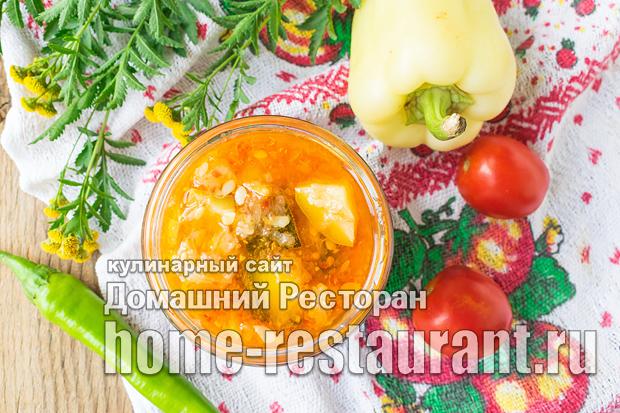 Острый салат из кабачков на зиму фото_04