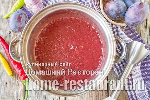 Острый соус из слив на зиму фото_03