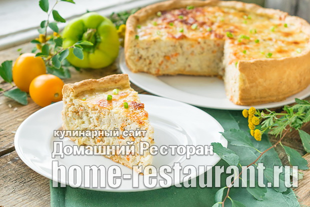 Пирог с рыбой и рисом фото_08