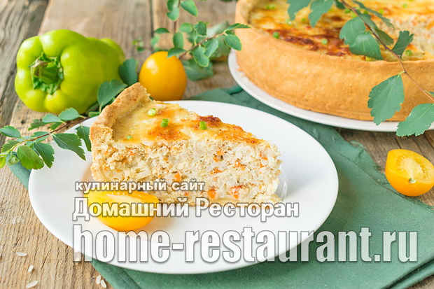Пирог с рыбой и рисом фото_09