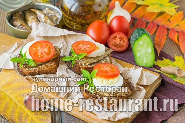 Бутерброды со шпротами и яйцом фото_6