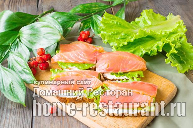 Праздничные бутерброды с семгой фото_4