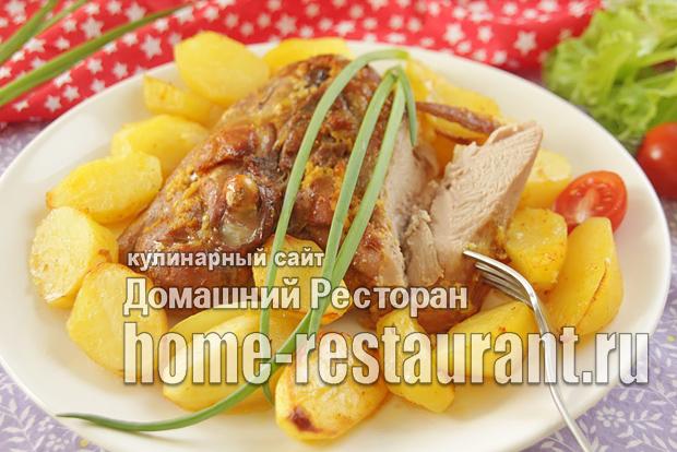 Индейка с картошкой в духовке фото, фото рецепт индейки с картошкой в духовке