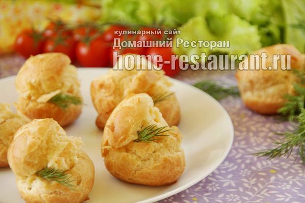 Профитроли с сырной начинкой фото, фото рецепт профитролей с сырной начинкой