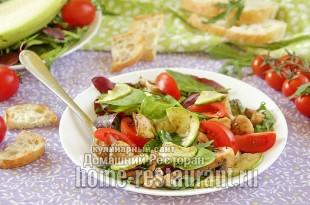 Салат с грибами и кабачком рецепт с фото
