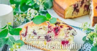 Пирог на кефире с ягодами фото