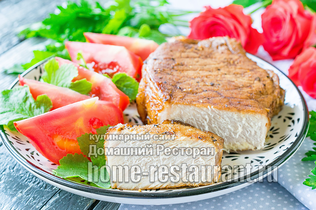 Антрекот из свинины фото