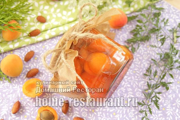 Абрикосовое варенье с миндалем фото