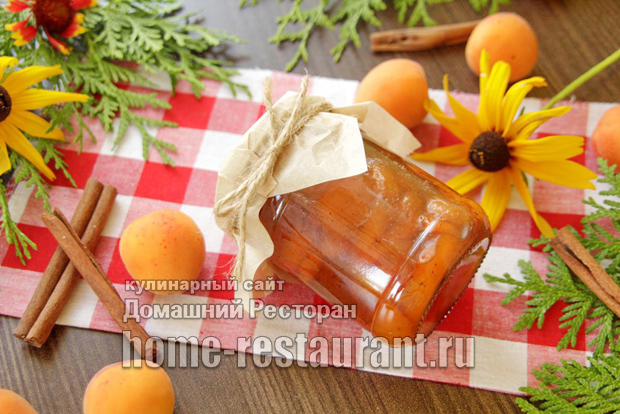 Абрикосовое варенье с корицей фото