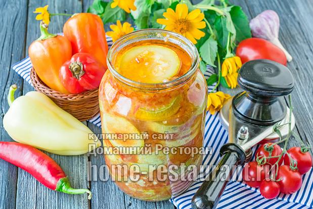 Кабачки в острой томатной заливке фото