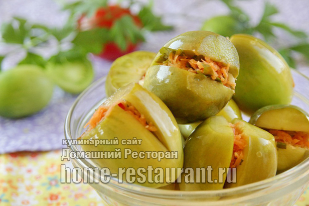 Соленые зеленые помидоры по-грузински фото