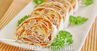 рулет из лаваша с корейской морковью фото 21