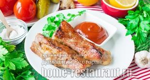 Свиные ребрышки в духовке с медом и соевым соусом фото