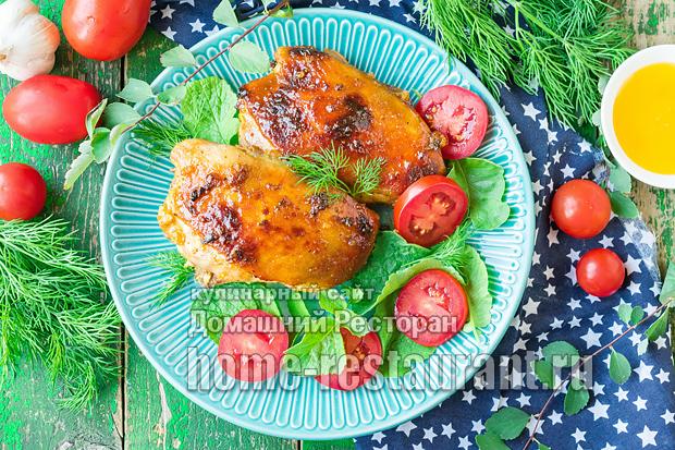 Курица в медово-соевом маринаде фото 3