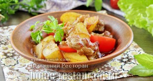 Оджахури по-грузински из свинины на сковороде фото