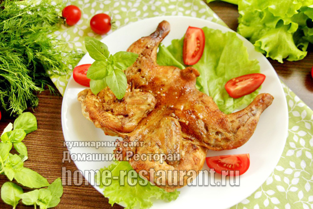 Цыпленок табака в духовке фото