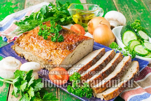Мясной хлеб в духовке из фарша фото 1