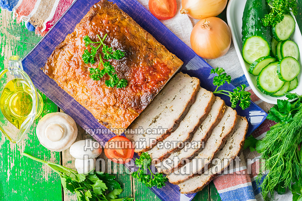 Мясной хлеб в духовке из фарша фото 2