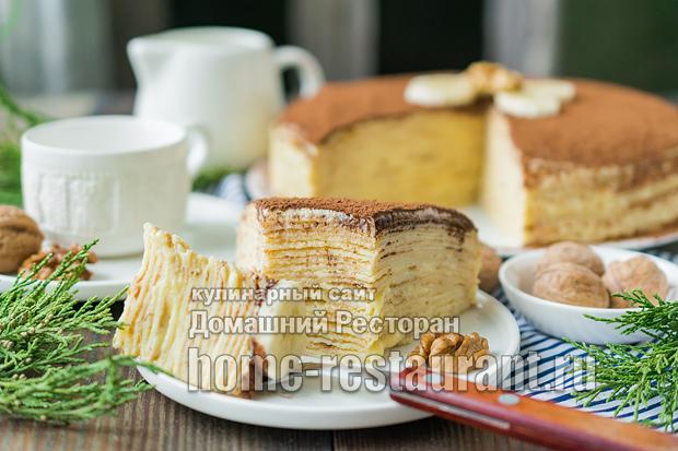 Блинный торт с заварным кремом  фото 4