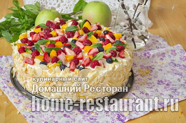 бисквитный торт с фруктами фото_19