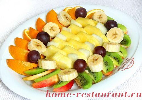 фруктовые ассорти нарезки с фото
