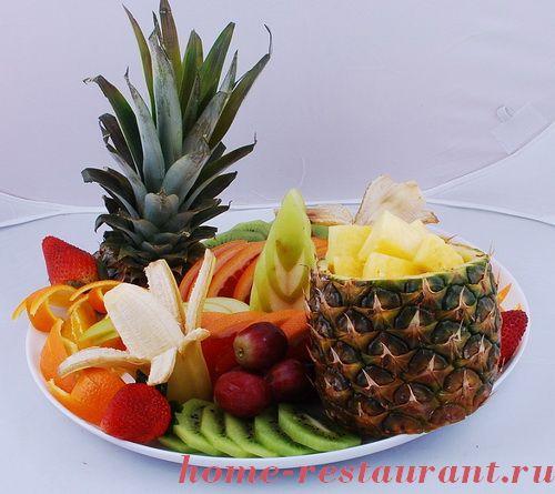 Как сделать фруктовую вазу с ананасом