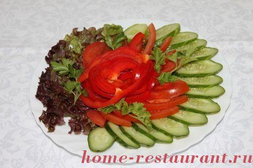 Фото нарезки овощей для закуски
