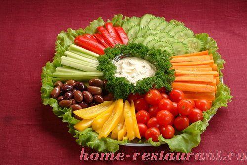 Красивая сервировка блюд на день рождения