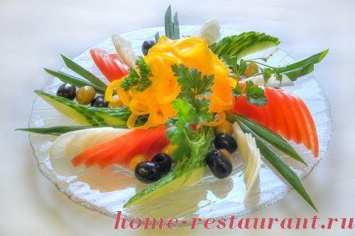 Красивое оформление овощных нарезок / Простые