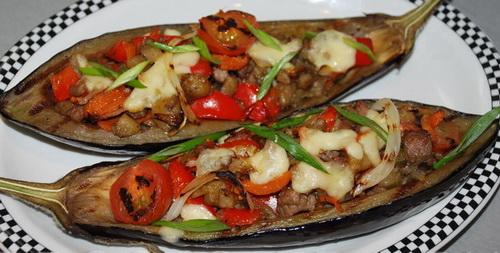 фаршированные баклажаны с мясом запеченные в духовке рецепт