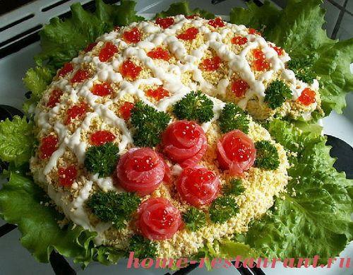 Украшение салатов оригинальные идеи