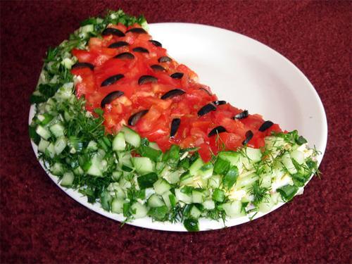 Салат в форме ежика 155