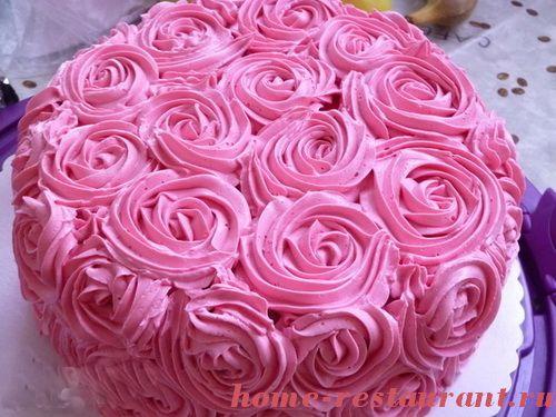 Украшение тортов розами в домашних условиях
