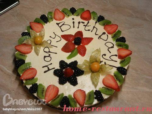 Чем украсить торт на день рождения мальчику в домашних условиях