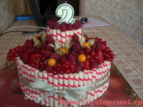 Детский торт с фруктами своими руками